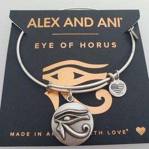 NWT Alex and Ani eye of horus bangle silver